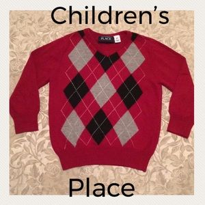 Children's Place toddler boys argyle sweater